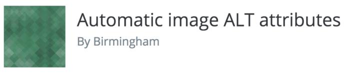Automatic image ALT attributes