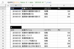 【スプレッドシート】QUERY関数で条件に日付を指定する方法