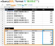 【スプレッドシート】Query関数のformatの使い方と応用例4つ